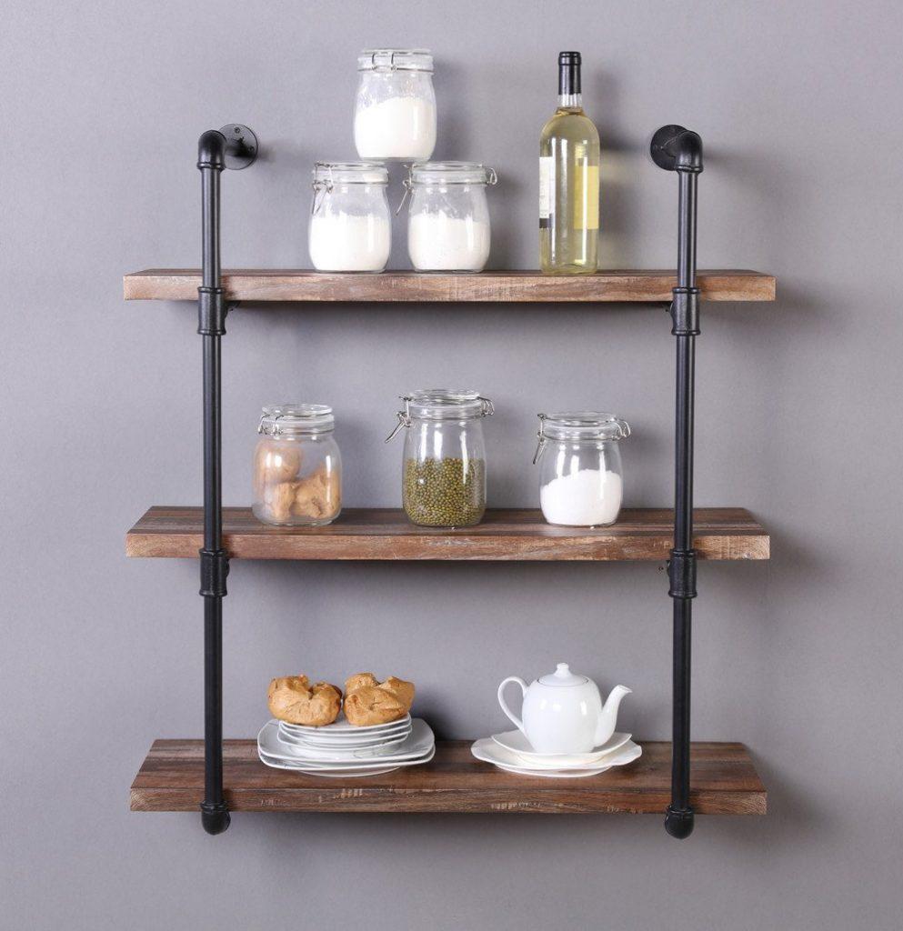 Floating Wood Shelves 2